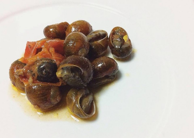 Snails with spicy tomato sauce