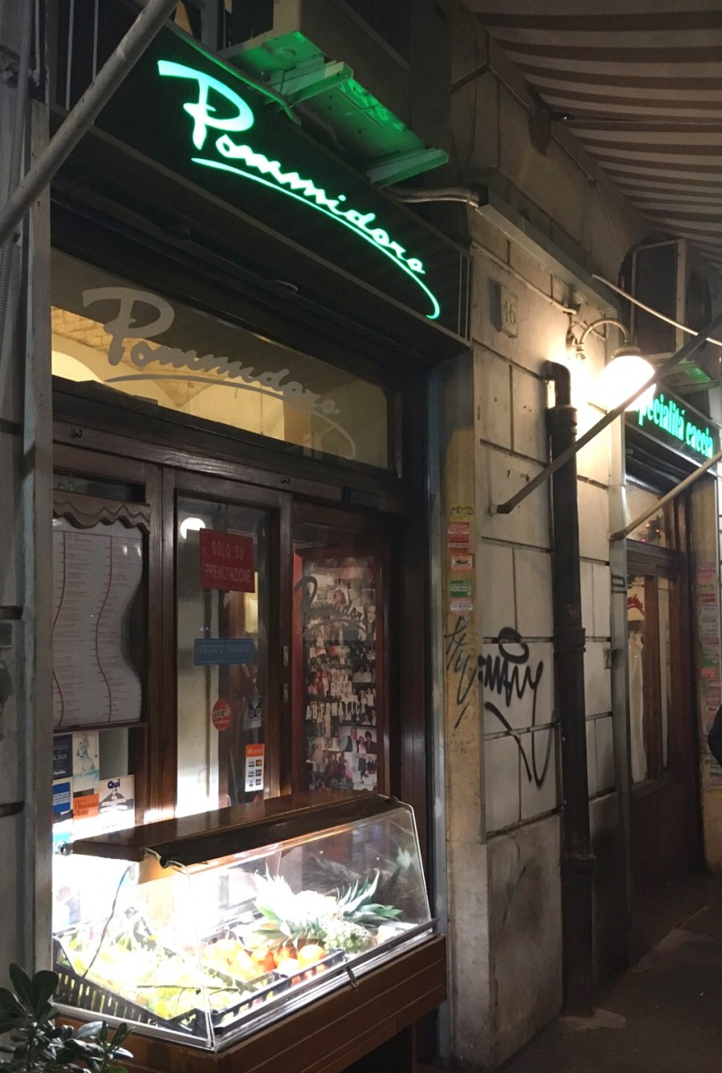 A typical Roman dinner at Pommidoro: a must for film buffs in Rome