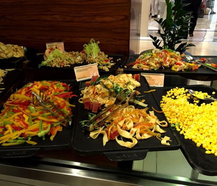 Salads at the Bubbalicious brunch, Westin Dubai